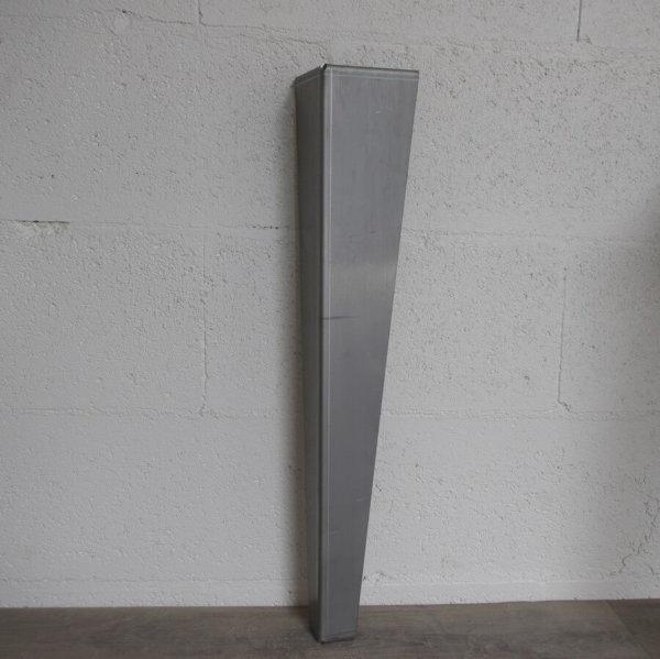 pied de table de repas design en acier brut de 72cm