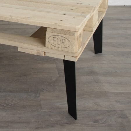 Pied type hairpin legs pour table basse 40cm ref vesta40 pyeta - Pied pour table basse ...