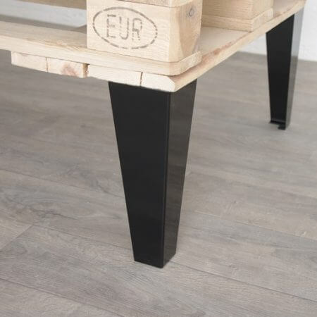 Pied de meuble en metal 17 cm ref vest17 pyeta for Table basse 3 pieds