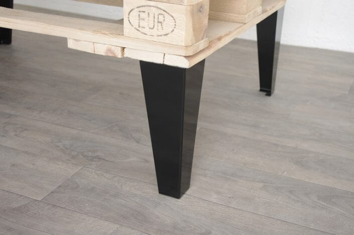 pied style industriel pour table basse 40cm ref vest40. Black Bedroom Furniture Sets. Home Design Ideas