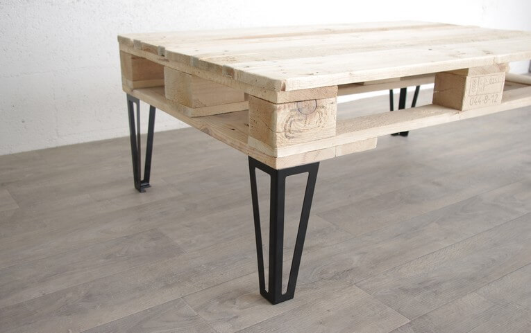 Pied type hairpin legs pour table basse 40cm ref for Table basse 3 pieds