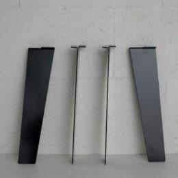 pied de table basse noir style industriel de 40cm