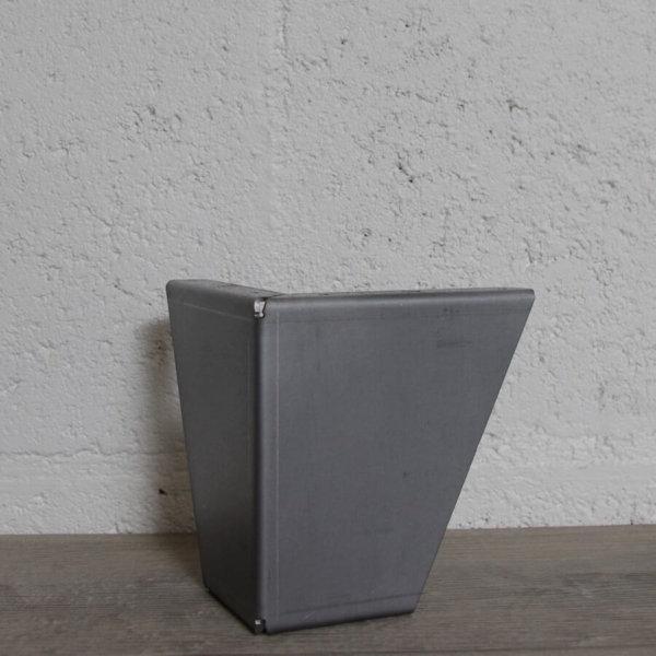 pied de meuble style industriel vestiaire en acier brut 12,50cm