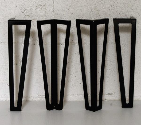 pieds pour table basse palette diy en acier noir 40cm