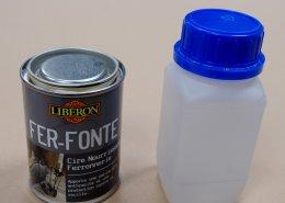 cire fer fonte liberon et produit d'accroche antirouille