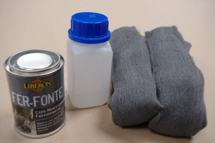 cire fer fonte liberon paille de fer produit d'accroche antirouille