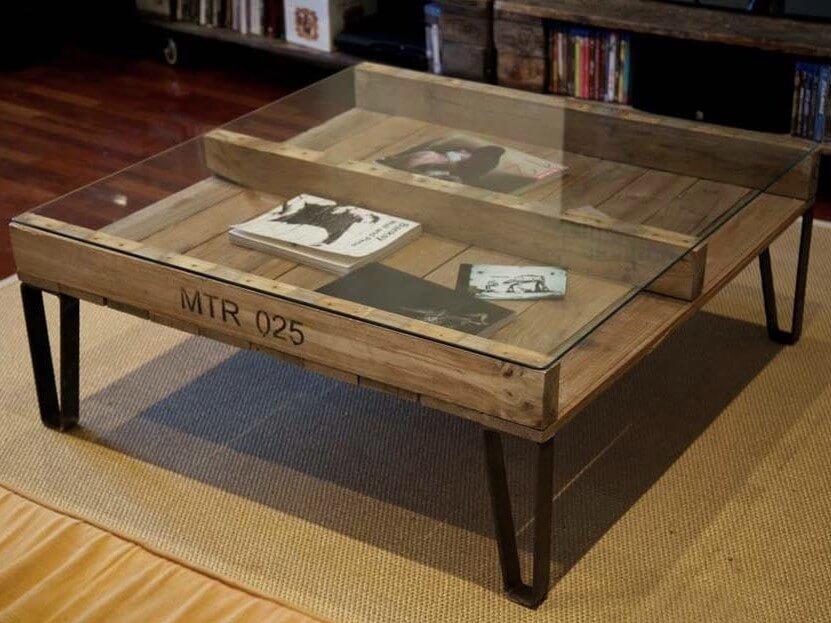 Pied De Table Basse Sur Mesure Ref Square30 Pyeta