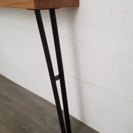 pieds de table de repas en acier