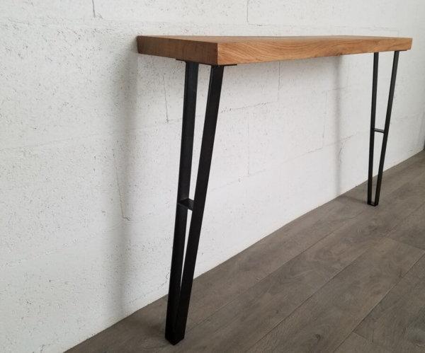 pieds-table-console-acier-noir-diy