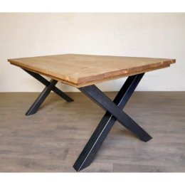 pied de table forme x