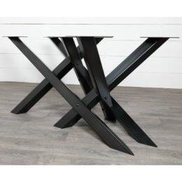 pieds de table double x