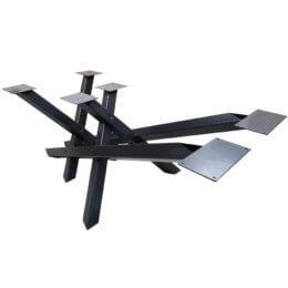 pied de table metallique en x