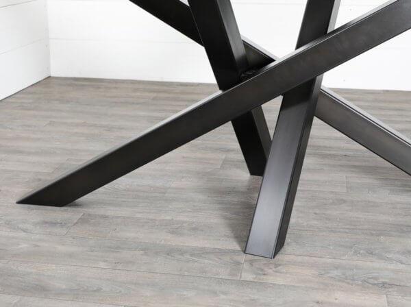 pieds de table croises noir
