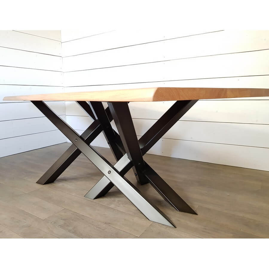 Pied De Table Metal Double X Ref Ddx Pyeta