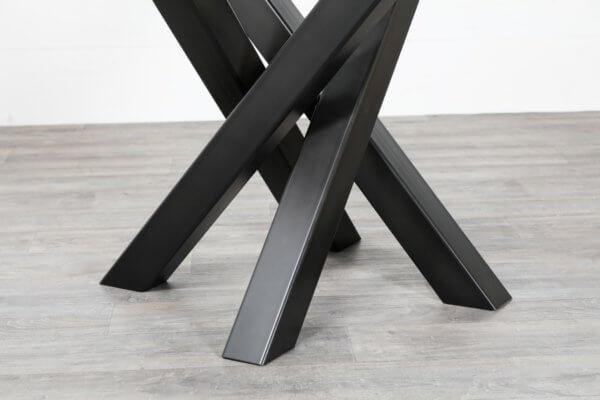 Pied central acier pour table carree