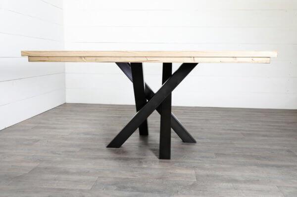 Pied central croise pour table carree