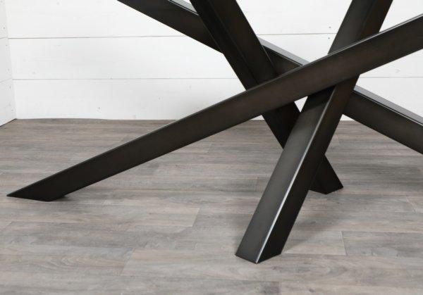 pied de table croise noir